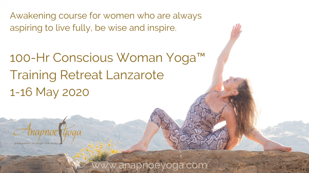 Conscious Woman Yoga Training Retreat Lanzarote www.anapnoeyoga.com